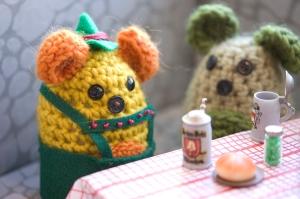 Oktoberfest crochet diorama